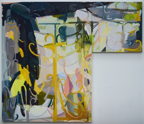 DRFA_Sarah Awad_Pied-à-terre_2015_Oil and Cel-Vinyl on canvas_72 x 84 inches